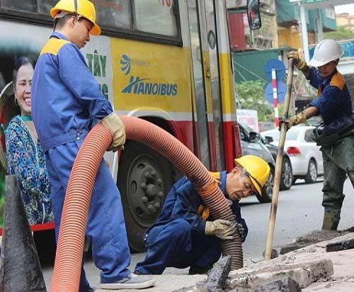 hút bể phốt tại Phương Liệt