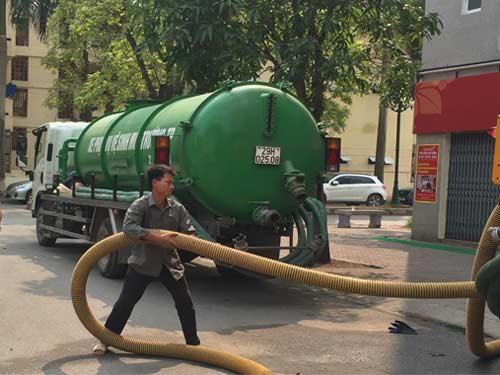 hút bể phốt tại Mê Linh