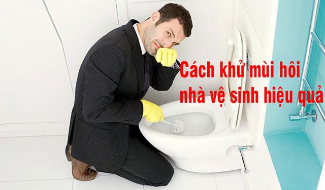 khử mùi hôi nhà vệ sinh từ bồn cầu