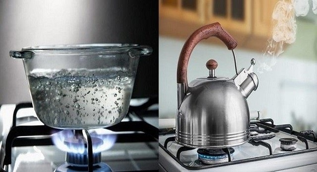 Khử clo trong nước máy bằng cách đun sôi nước