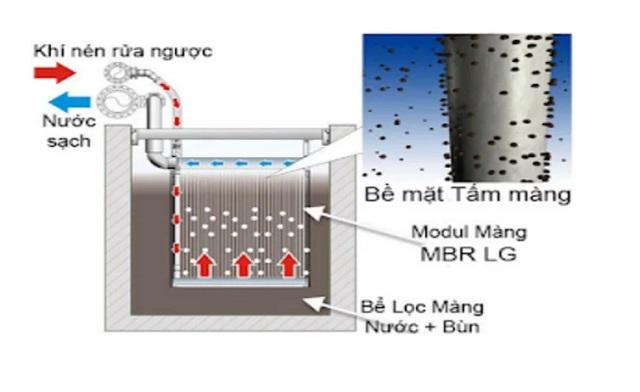 Sơ đồ công nghệ của bể MBR