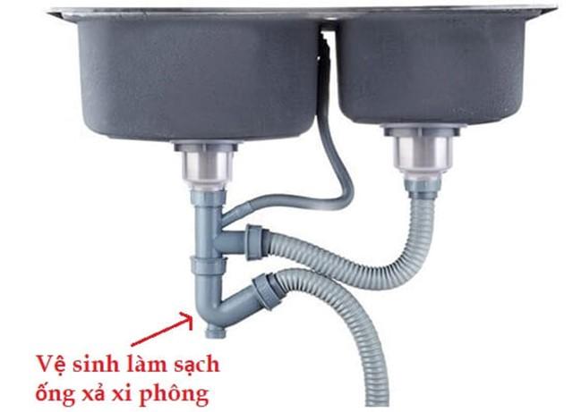 Vệ sinh ống xả bồn rửa chén