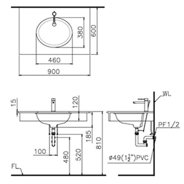 Cách lắp lavabo đặt bàn