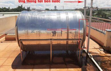 Khi nào cần lắp ống thông hơi cho bồn nước
