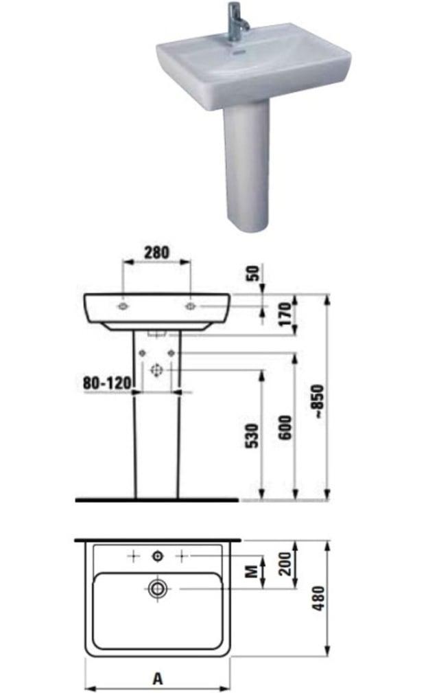 Tiêu chuẩn kích thước lắp đặt lavabo