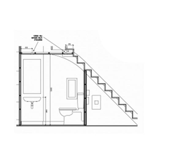 bản vẽ nhà vệ sinh dưới gầm cầu thang 1