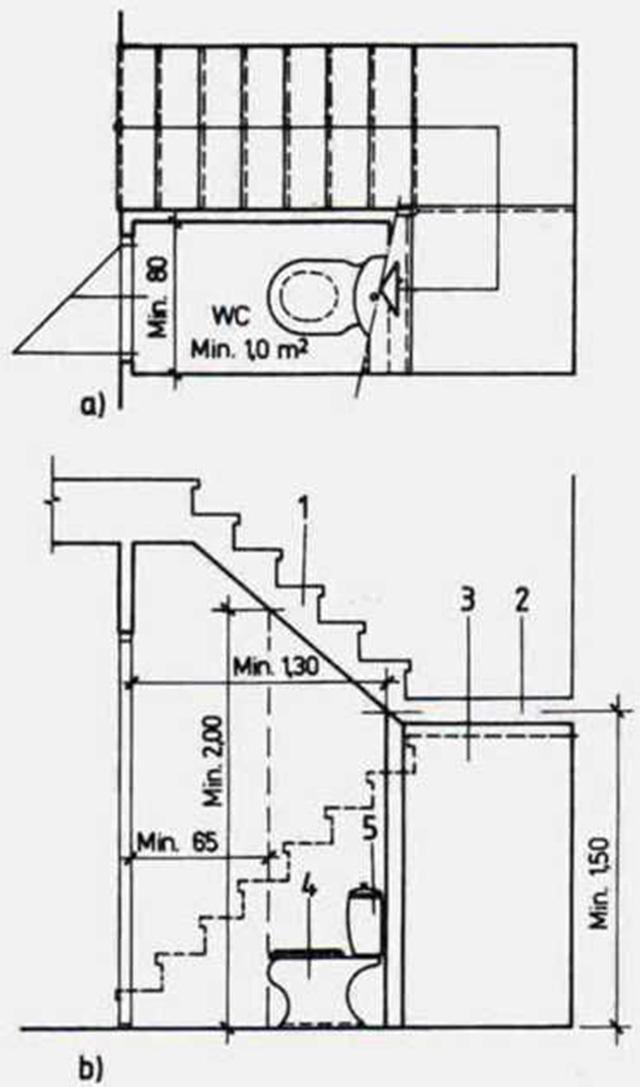 bản vẽ nhà vệ sinh dưới gầm cầu thang 4