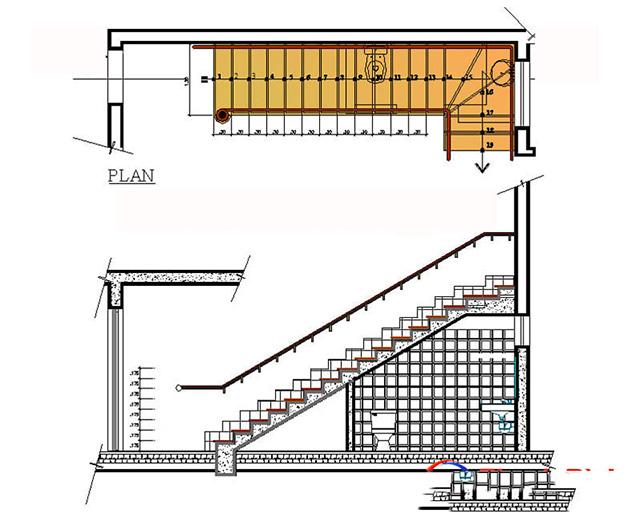 bản vẽ nhà vệ sinh dưới gầm cầu thang 5