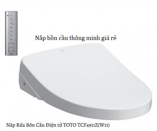 Nắp bồn cầu thông minh của Nhật TOTO Washlet TCF4911Z(W11)
